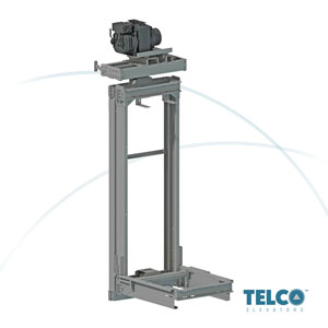 Traction Lift SET machine room less (MRL) used by TELCO™